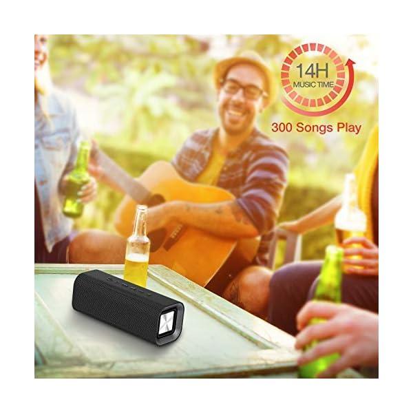 HAVIT V4.2 Enceinte Bluetooth Portable Puissante, Haut Parleur Bluetooth pour Bluetooth, Entrée Filaire, Carte TF -Noir 7