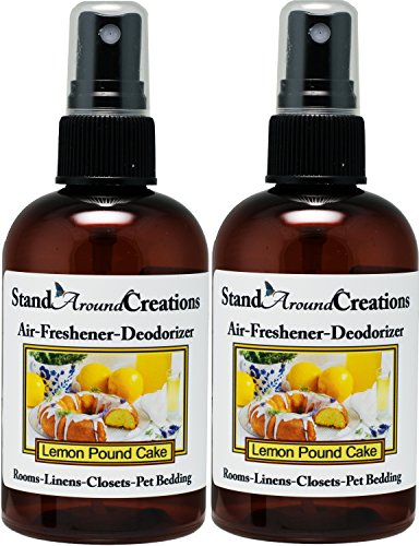 Set of 2 - Concentrated Spray For Room/Linen/Room Deodorizer/Air Freshener - Lemon Pound Cake- A mouth-watering aroma of warm lemon pound cake w/sweet lemon glaze. 4 fl oz - Scent - ()