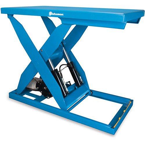 Bishamon-Optimus-Hydraulic-Scissor-Lift-Tables-5000-Lb-Capacity-32Wx56D-Platform