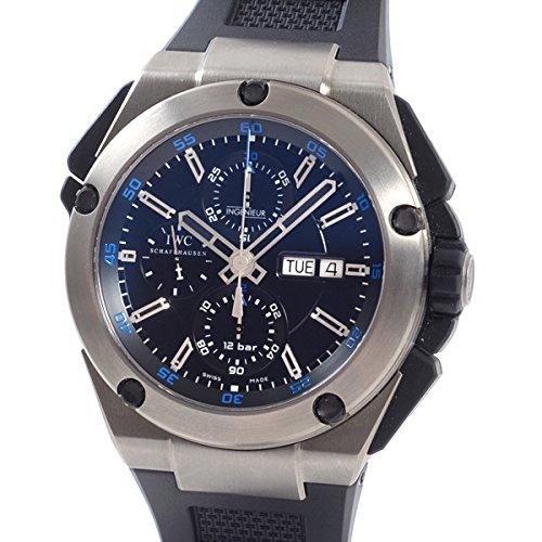 [アイダブリューシー]IWC 腕時計 インヂュニアダブルクロノグラフチタン IW376501 中古[1307590]ブラック 付属:国際保証書 B07DXHB39B