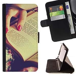 Momo Phone Case / Flip Funda de Cuero Case Cover - Libro Rojo de Polonia;;;;;;;; - Samsung Galaxy A5 ( A5000 ) 2014 Version
