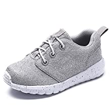 CAIKO Baby's Boy's Girl's Casual Light Weight Breathable Lace-up Sneakers Running Shoe