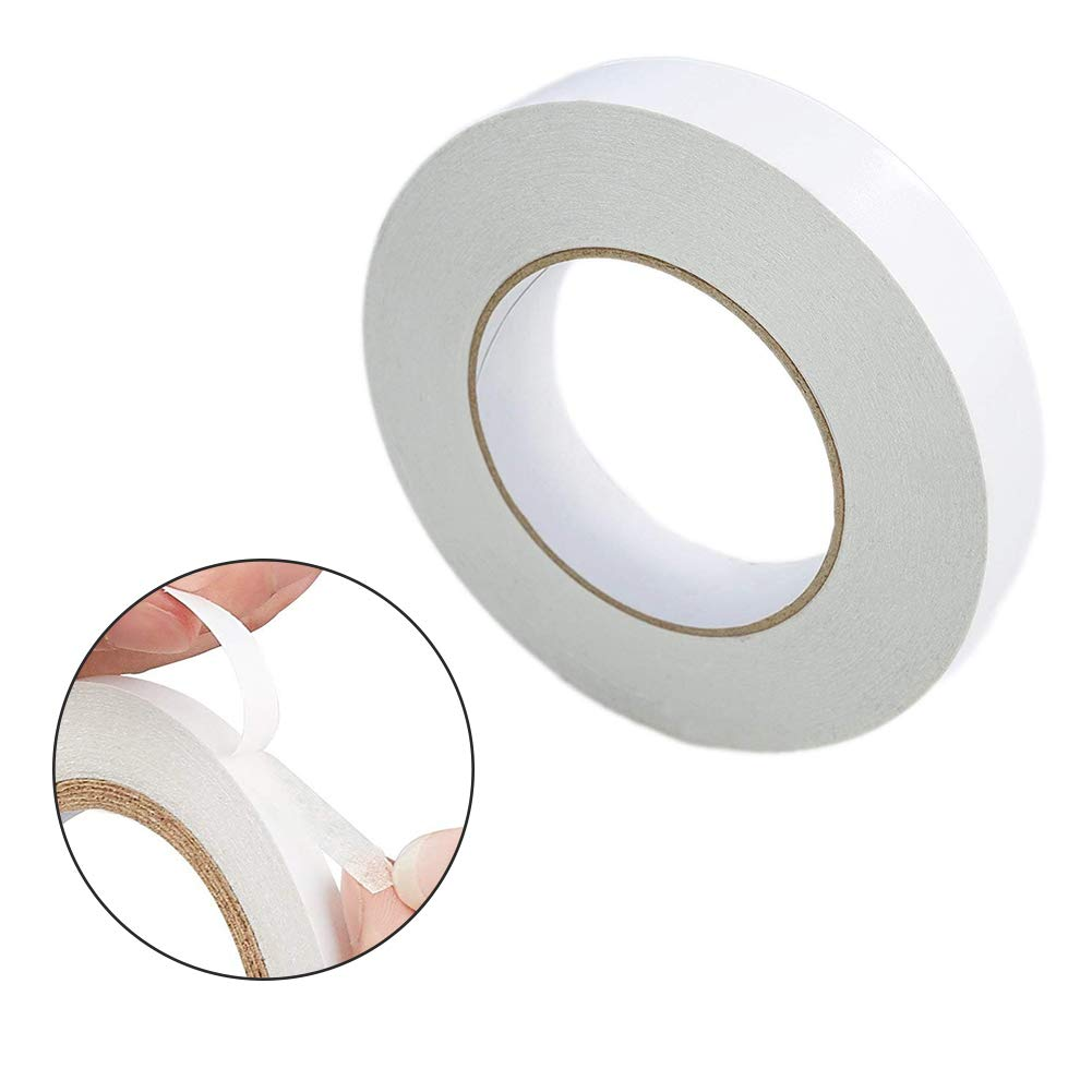 Card Making DIY Craft Projects Qincling 7 Rolls//56m Double-sided Tapes White Sticky Adhesive Craft Tapes Double Sided Adhesive Tape Thin 5mm//8mm//10mm//12mm//15mm//18mm//20mm for Scrapbook