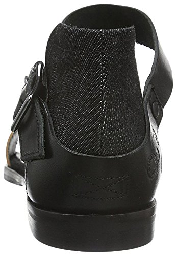 G-STAR RAW Revend, Sandali Donna Nero/Marrone