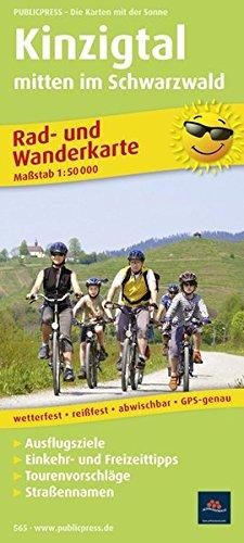 Kinzigtal mitten im Schwarzwald: Rad- und Wanderkarte mit Ausflugszielen, Einkehr- & Freizeittipps, wetterfest, reissfest, abwischbar, GPS-genau. 1:50000 (Rad- und Wanderkarte / RuWK)