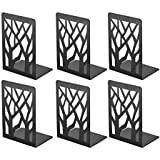 Book Ends, Bookends, Book Ends for Shelves, Bookends for Shelves, Bookend, Book Ends for Heavy Books, Book Shelf Holder Home Decorative, Metal Bookends Black 3 Pair, Bookend Supports, Book Stoppers