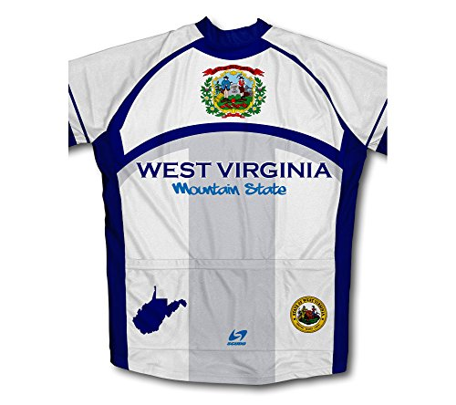 Amazon.com  ScudoPro West Virginia Flag Winter Thermal Cycling Jersey for  Women  Clothing fa35e48b6