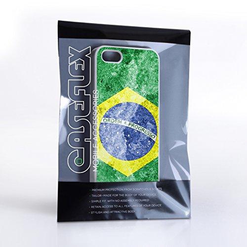 Caseflex iPhone 5 / 5S Hülle Retro Brasilien Flagge Hart Schutzhülle