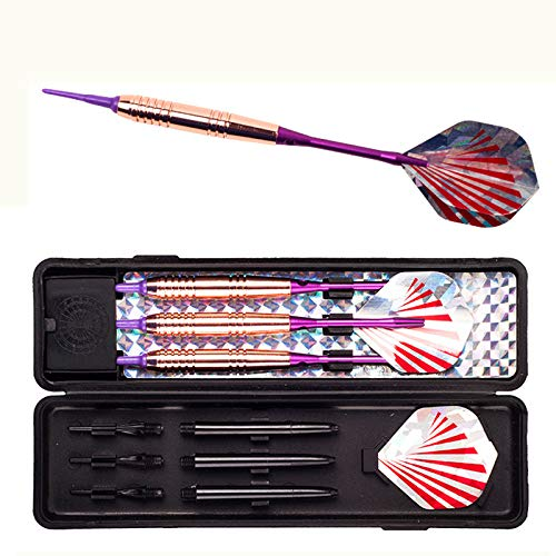 HSXKJ 3 Pcs 18G Rose Gold Soft Tip Darts Wrought Iron Darts Professional Darts Set Safety Indoor Game As Shown