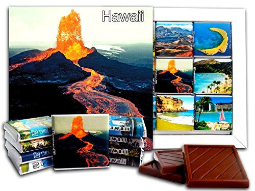 DA CHOCOLATE Candy Souvenir HAWAII State Chocolate Gift Set 5x5in 1 box (Volcano)