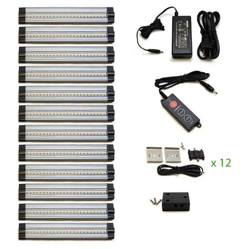 Lightkiwi V4918 6 inch Cool White Modular LED Under Cabinet Lighting - Pro Kit (12 Panels) (Modular Lighting compare prices)