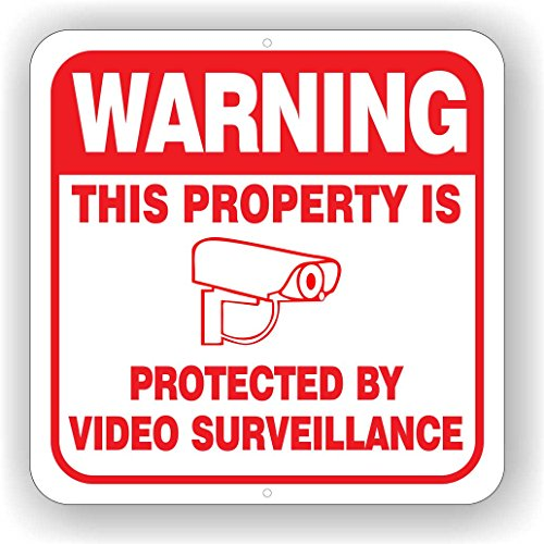 Sale!! Minuteman Signs Aluminum Surveillance Camera Sign 12 x 12 Sign White (White)