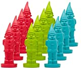 """8"""" Gnomes – Set of 12 Paint and Create/Paint Your Own Ceramic Gnome, Arts and Craft Project, Party Giveaway, Decorate Your Home Or Garden -DIY Garden Gnome Statues – Red, Green, Blue – 12 Pack For Sale"""