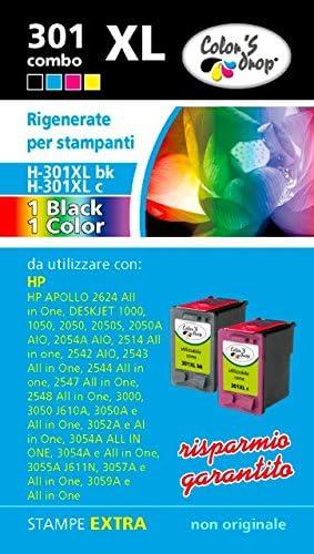 HP 301 bk 301 XL col Combo pack cartuchos de tinta de alta capacidad de regeneración: Amazon.es: Electrónica