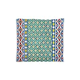 iPrint Indoor/Outdoor Square Seat Cushion,Comfort Memory Foam Chair Pad,Moroccan Decor,Colorful Moroccan Mosaic Wall Mideast Style Craftsmanship Vertical Details,Fit for Most of Chairs