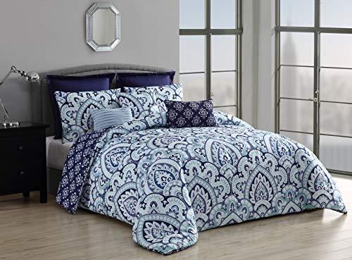 Geneva Home Fashion Palma Comforter Set Queen Blue