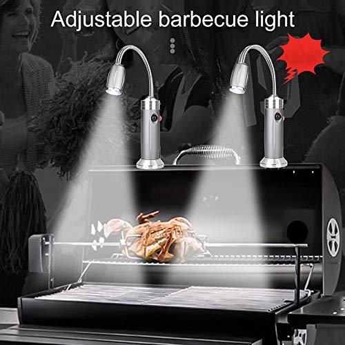 gdfh Grill Light, Magnetic Base BBQ Light with 360 Degree Flexible Gooseneck Super Bright LED Lights, Heat Resistance & Waterproofness 2 PCS