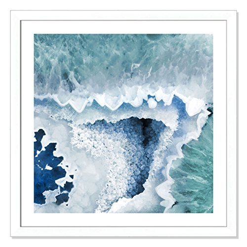(Casa Fine Arts Agate Blue and Turquoise I Modern Geode Crystal Archival Art Print, 31