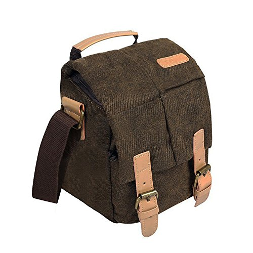 Canvas Camera Sling Bag DSLR SLR Camera Bag small Travel Outdoor Vintage Camera Messenger Bag for Canon Sony Nikon Vintage Video Camera