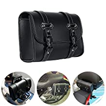Motorcycle Luggage Bag Tool Pouch PU leather Saddle Bag Storage for Sissy Bar