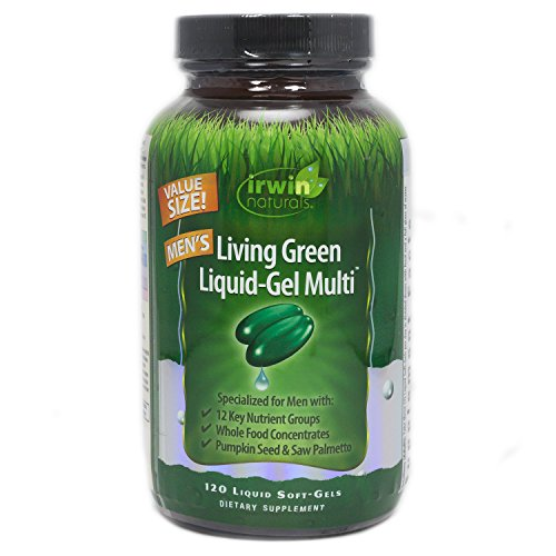 - Irwin Naturals Living Green Multi Liquid-Gel for Men, 120 Count