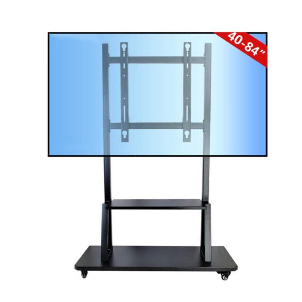 液晶 LED プラズマフラットパネルのためのモバイル TV カートフロアスタンド48-85 インチ、最大サポート 150 KG の車輪モバイルフィットをスタンドします。 B07KCDNVFB