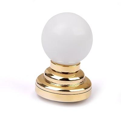 MagiDeal Lampe de Table LED Forme de Boule Miniature pour 1:12 Maison de Poupée