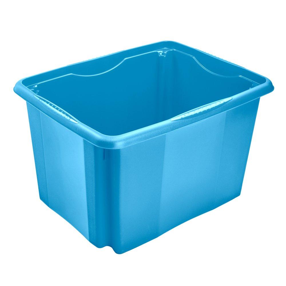 Blau 35 x 20,5 x 15 cm 7 l keeeper Aufbewahrungsbox mit Dreh-//Stapelsystem Emil