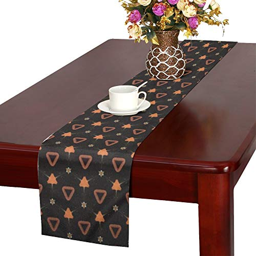 Jnseff Texture Pattern Structure Table Runner, Kitchen Dining Table Runner 16 X 72 Inch For Dinner Parties, Events, Decor -
