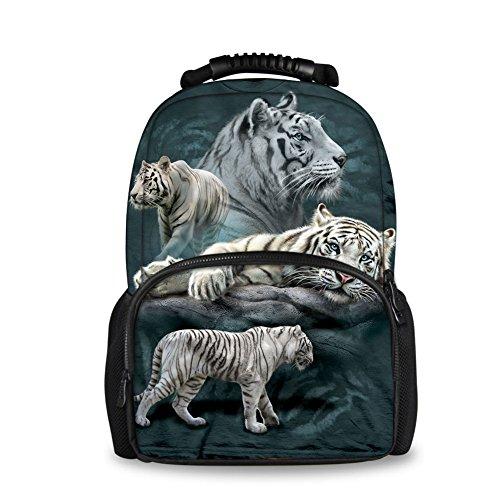 HUGS IDEA Children School Backpack 3D Animals Tiger Schoolbag Laptop Shoulder Bag