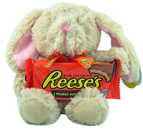 Reese's Plush Easter Bunny Basket Stuffer with Chocolates, 8 Inch - Reese Girl