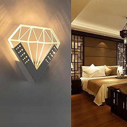 Chambre à coucher moderne simple miroir bois massif lampe ...