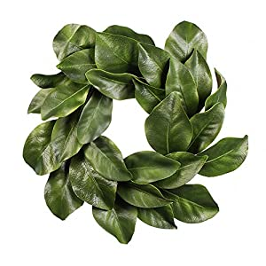 "American Best Christmas Quality Magnolia Leaf Grapevine Wreath 16"" 111"