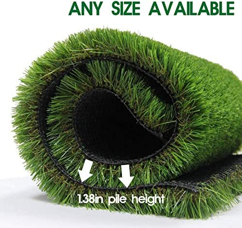 LITA Premium Artificial Grass 13 x 34 442 Square Feet Realistic Fake Grass Deluxe Turf Synthetic Turf Thick Lawn Pet Turf -Perfect for Indoor Outdoor Landscape – Customized