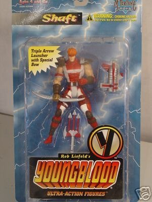 McFarlane - Rob Liefeld's Youngblood - Series 1 - Shaft ultra action figure w/custom