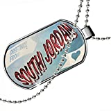 Dogtag Greetings from South Jordan, Vintage Postcard Dog tags necklace - Neonblond