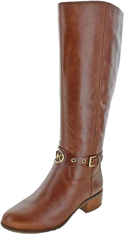 7ea6a6da91c Amazon.com | Michael Kors MK Women's Knee High Leather Heather ...