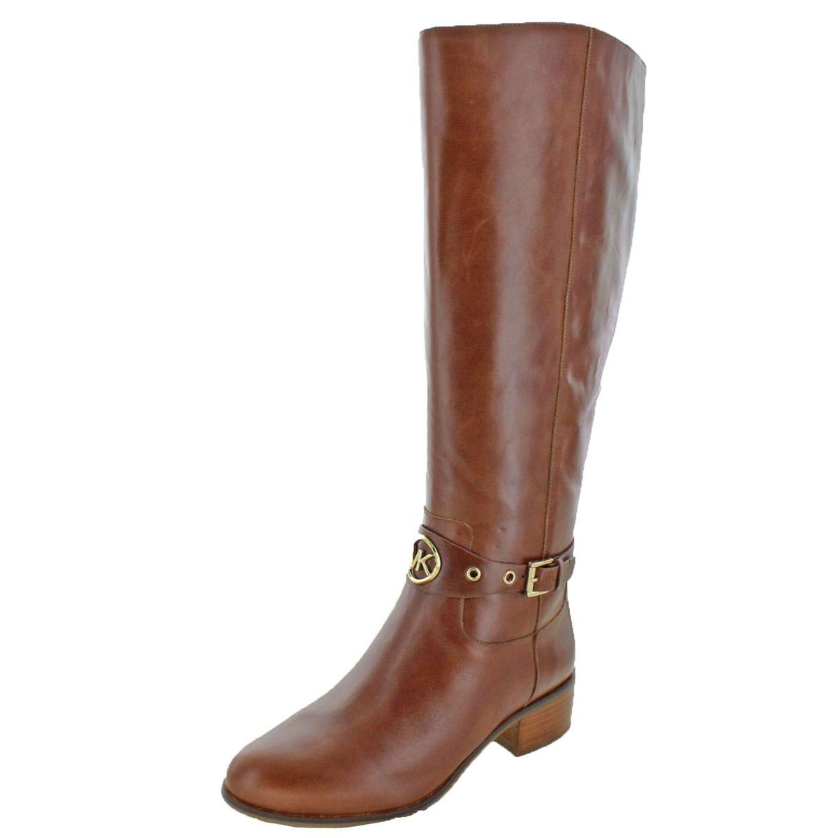 be8b87f354d32 MICHAEL Michael Kors Women's Heather Leather Knee-High Boots Brown Size 11