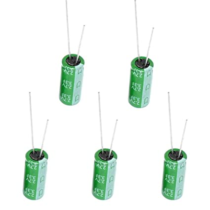 PoiLee 5 Pcs Super Capacitor 2.7V 1F 8x12mm Farad Capacitance Winding Type