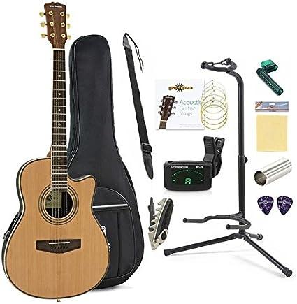 Paquete Completo de Guitarra Acustica Roundback de Gear4music