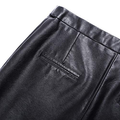 Taille Club Bodycon FS9833 DISSA Grande PU Noir Mini Cuir Jupe Crayon wxOfOqt0cZ