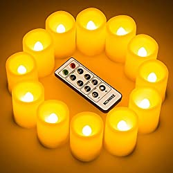 Kohree Flameless Battery Operated LED Pillar Candl