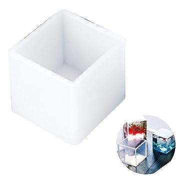 1pc Resina Moldes Große Klare Silikon-epoxie Resina Moldes de bricolaje Schmuck Craft la fabricación de moldes Seife Kerze Kerze Mold-cubo, ...