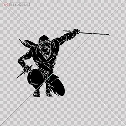 Sticker vinyl decals samurai ninja car window wall art decor doors helmet truck motorcycle note book