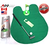 A99 Golf Toilet Bathroom Mini Golf Mat Set Game Potty Putter