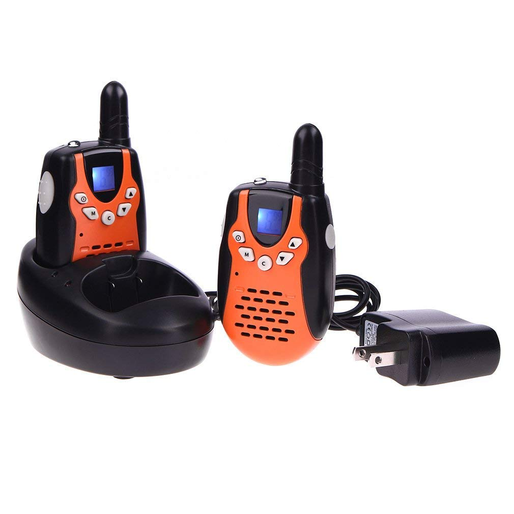 Swiftion Walkie Talkies for Kids Walkie Talkies for Child with Charger Batteries 22 Channel Walky Talky 0.5W FRS/GMRS Long Range 2 Way Radios (Orange, Pack of 2)