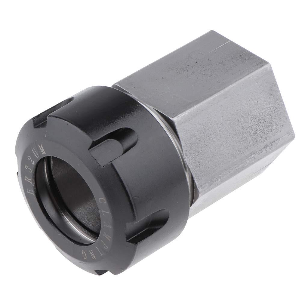 Fenteer Porte-micro Supports Clips de Microphone pour tour /à bois ER-32 Hex Collect Chuck