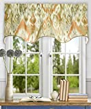 Ellis Curtain Terlina 50-by-15 Inch Lined Duchess Filler Valance, Coral For Sale