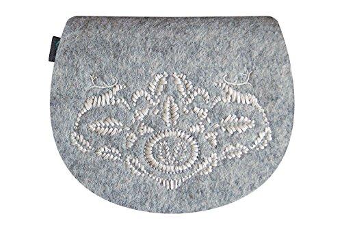 KringsFashion® - Bolso cruzados de Fieltro para mujer Gris - gris claro (grey 801)