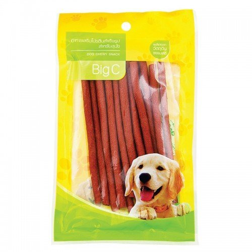 well-wreapped BIG C DOG CHEWY SNACK SOFT STICK WITH CHICKEN MEAT LIVER FLAVOUR 80 G.